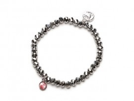 Armband Charm Silver Pink
