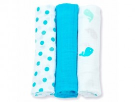 Swaddle 3pack Medium Blue