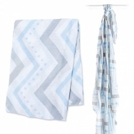 3508-LJ104- Bamboo Blue Chevron