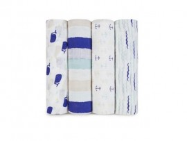 Swaddle 4-pack High Seas Blue
