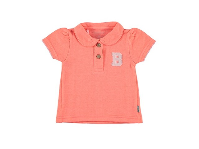 Shirt SS Polo Girls Coral