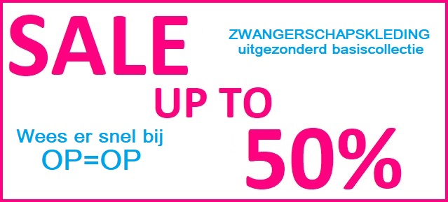 Zwangerschapskleding SALE up to 50%